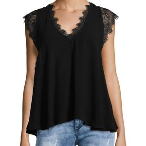 FREE PEOPLE | lovin' you lace cap sleeve top